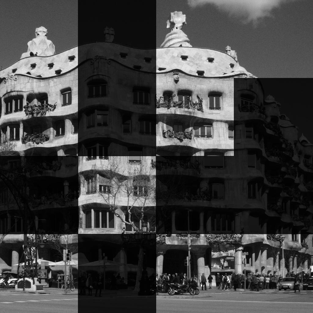 La Pedrera puzzle del famoso edificio de Gaudí en Barcelona / La Pedrera puzzle del famós edifici de Gaudí a Barcelona